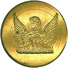 Gilt button with phoenix